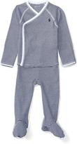 Ralph Lauren French Navy Kimono & Pants - Infant