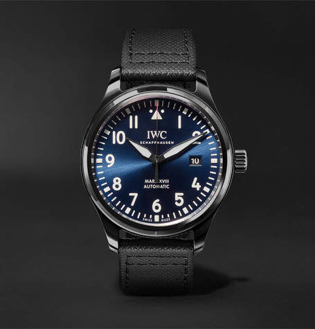 IWC SCHAFFHAUSEN Pilot's Mark Xviii Laureus Sport For Good Foundation Automatic 41mm Ceramic, Titanium And Leather Watch