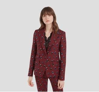 Mulberry Felicity Jacket Crimson Woven Wool