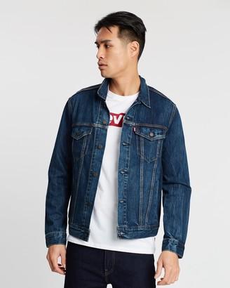 Levi's Men's Blue Denim jacket - The Trucker Jacket - Size S at The Iconic