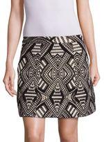 Alice + Olivia Loran Structured Geometric-Print Skirt