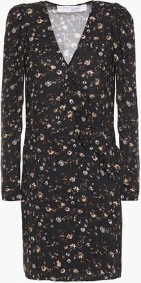 IRO Ruffled Floral-print Twill Mini Dress