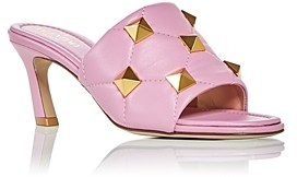 Valentino Women's Roman Studs High Heel Slide Sandals
