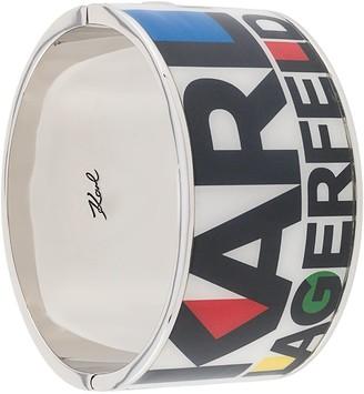 Karl Lagerfeld Paris coulor block logo bracelet