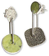 "Novica Artisan Crafted Sterling ""Opposite"" Earrings"
