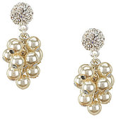 Cezanne Fireball & Shaky Faux-Pearl Drop Earrings