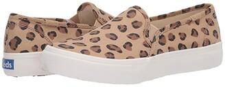Keds Double Decker Leopard (Tan/Black) Women's Shoes