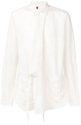 Attachment Side Belt Shirt