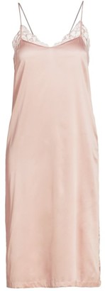La Perla Adele Lace Trim Silk Night Gown