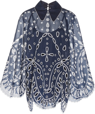 Alice McCall Moonchild Broderie Anglaise Mini Dress