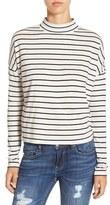 BP Women's Stripe Long Sleeve Mock Neck Tee
