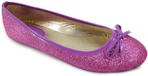 Light Purple Glitter Bow Flat