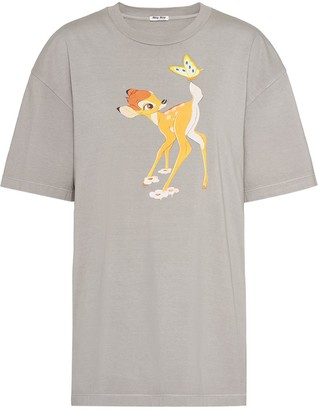 Miu Miu x Disney Bambi print T-shirt