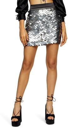 Topshop Pelmet Sequin Mini Skirt