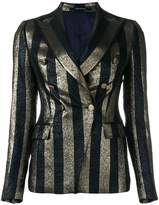 Tagliatore striped metallic blazer