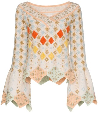 Peter Pilotto Geometric Knitted Top