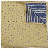 Peckham Rye Mini Paisley Print Silk Pocket Square