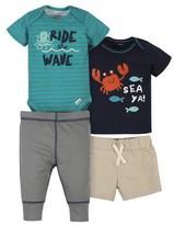 Bodysuit Short and Pant Gerber Baby Boys 4-Piece Shirt