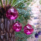 London Garden Trading Set Of Three Pink Hanging Tealight Bubbles