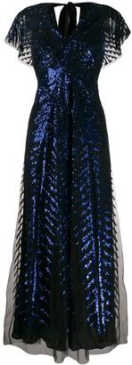 Temperley London Dusk sequinned tulle gown