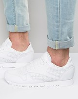 Reebok Classic Leather Weave Sneakers In White Aq9680