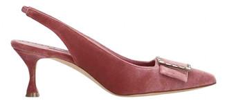Manolo Blahnik Pink Velvet Heels