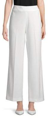 Kasper Stretch Wide-Leg Pants