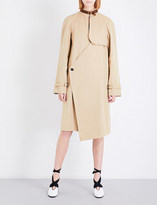 J.W.Anderson Asymmetric cotton-gabardine trench coat