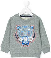 Kenzo embroidered tiger sweatshirt - kids - Cotton - 24 mth