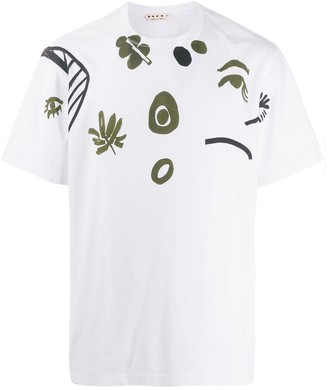 Marni frontal placed print T-shirt