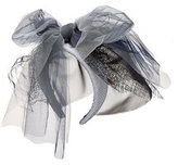 Maison Michel Headband with Mesh Veil, Lace and Oversize Bow