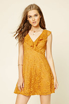 Forever 21 FOREVER 21+ Flounce Floral Lace Dress