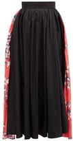 Roksanda Maia Floral-print Taffeta Midi Skirt - Womens - Black Multi