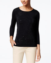Charter Club Petite Embellished Sweater, Only at Macy's