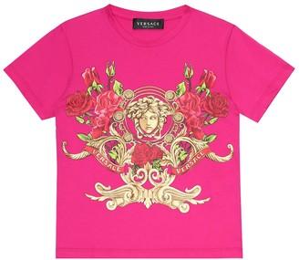 Versace Kids Printed cotton-jersey T-shirt
