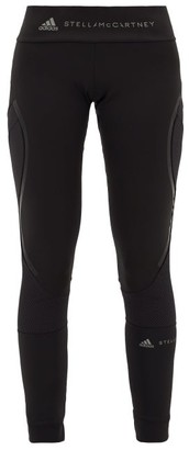 adidas by Stella McCartney Performance Essentials Mesh-panel Leggings - Womens - Black