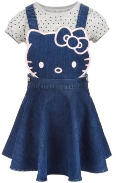 Hello Kitty Toddler Girls 2-Pc. Denim Skirtall & T-Shirt Set