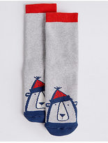 Marks and Spencer Cotton Rich Bear Socks (1-14 Years)