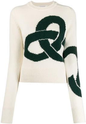 Victoria Beckham cashmere intarsia jumper