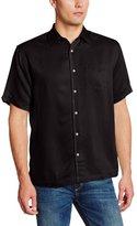 Cubavera Men's Short Sleeve Bedford Cord Shirt with Pocket