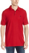 Izod Men's Short Sleeve Advantage Contrast Pique Polo