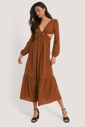 Trendyol Back Tie Maxi Dress