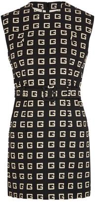 Gucci Logo-print Belted Faille Mini Dress