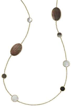 Ippolita 18K Yellow Gold Polished Rock Candy Mother-of-Pearl Doublet Oval Station Necklace, 37""