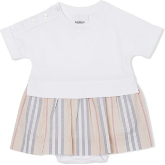 BURBERRY KIDS Icon stripe bodysuit