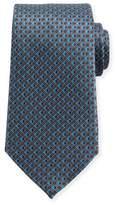Ermenegildo Zegna 3D Micro-Diamond Neat Tie, Gray