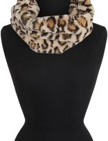 Cejon Leopard Faux Fur Cowl Snood