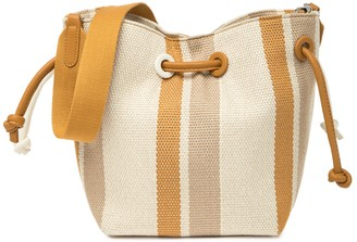 Most Wanted Design by Carlos Souza Striped Grommet Canvas Shoulder Bag
