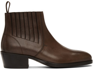 Lemaire Brown Leather Chelsea Boots