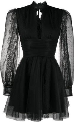 Brognano Sheer Panel Dress